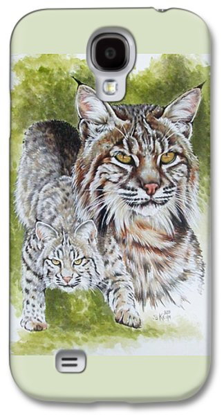 Bobcats Drawings Galaxy S4 Cases - Brassy Galaxy S4 Case by Barbara Keith