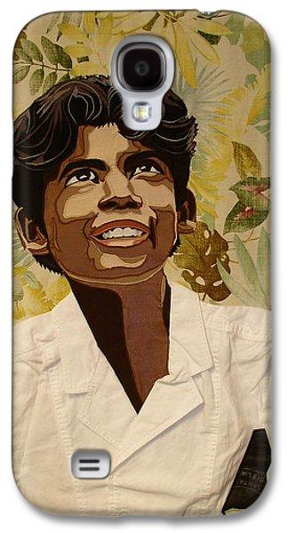Portraits Tapestries - Textiles Galaxy S4 Cases - Brazilian Boy Galaxy S4 Case by Patt Tiemeier