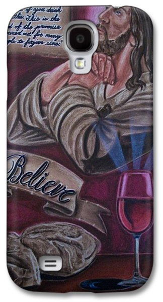 Jesus Pastels Galaxy S4 Cases - Bread And Wine Galaxy S4 Case by Anthony Gonzalez
