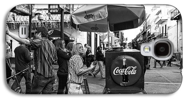 Lucky Dogs Galaxy S4 Cases - Break Time on Bourbon Street mono Galaxy S4 Case by John Rizzuto