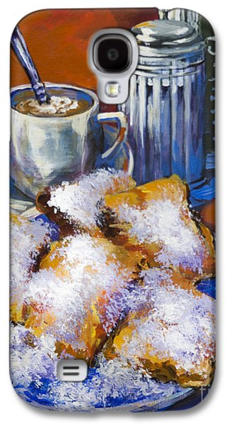 French Quarter Paintings Galaxy S4 Cases - Breakfast at Cafe du Monde Galaxy S4 Case by Dianne Parks
