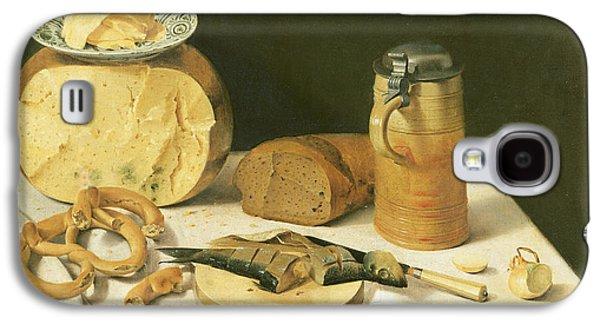 Tankard Galaxy S4 Cases - Breakfast Still Life Oil On Canvas Galaxy S4 Case by Johann Georg Hinz