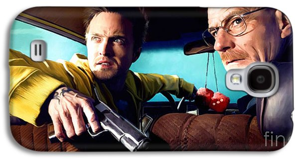 Tv Galaxy S4 Cases - Breaking Bad Galaxy S4 Case by Paul Tagliamonte