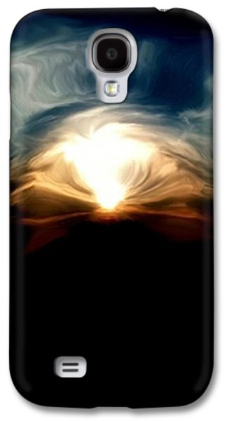 Index Mixed Media Galaxy S4 Cases - Breaking Through The Haze Galaxy S4 Case by Dennis Buckman