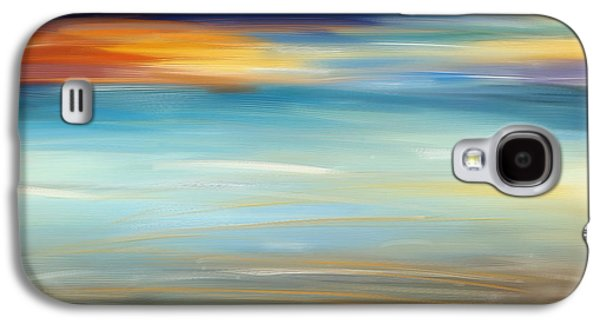 Recently Sold -  - Sunset Abstract Galaxy S4 Cases - Breeze-Seascapes Abstract Art Galaxy S4 Case by Lourry Legarde