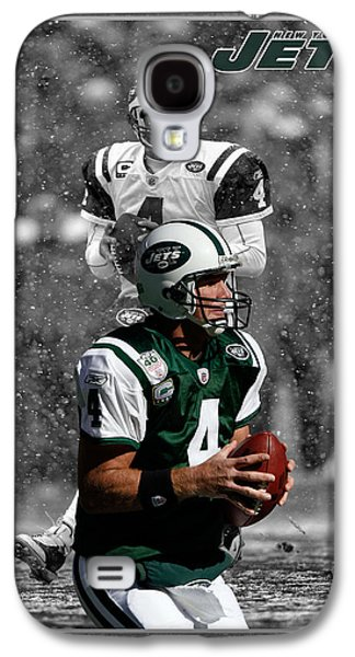 New York Jets Galaxy S4 Cases - Brett Favre Jets Galaxy S4 Case by Joe Hamilton