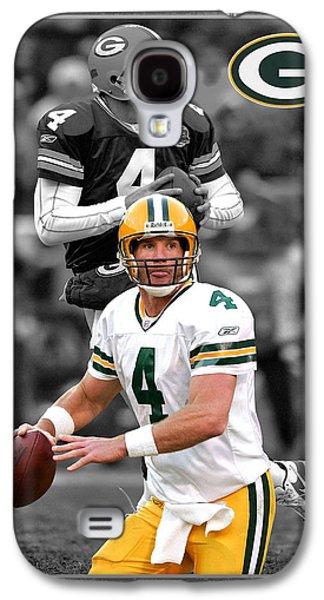 Helmet Galaxy S4 Cases - Brett Favre Packers Galaxy S4 Case by Joe Hamilton