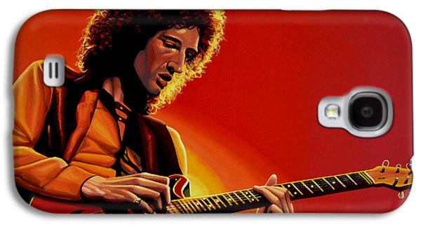 Songwriter Paintings Galaxy S4 Cases - Brian May Galaxy S4 Case by Paul  Meijering