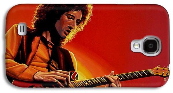 Queen Galaxy S4 Cases - Brian May Galaxy S4 Case by Paul Meijering