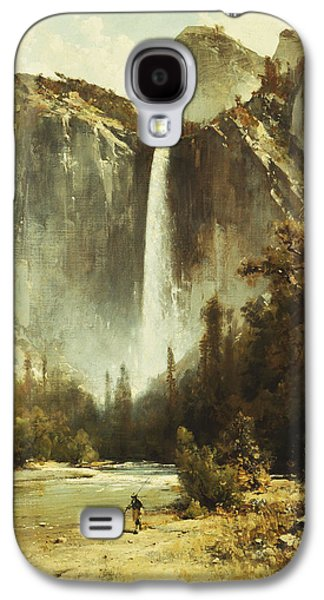 19th Century America Galaxy S4 Cases - Bridal Falls Galaxy S4 Case by Thomas Hill