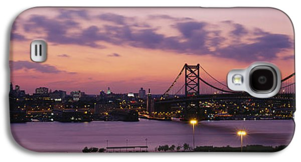 Downtown Franklin Galaxy S4 Cases - Bridge Across A River, Ben Franklin Galaxy S4 Case by Panoramic Images