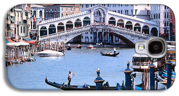 Locations Galaxy S4 Cases - Bridge Across A River, Rialto Bridge Galaxy S4 Case by Panoramic Images