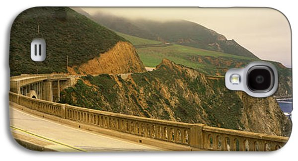 Bixby Bridge Galaxy S4 Cases - Bridge At The Coast, Bixby Bridge, Big Galaxy S4 Case by Panoramic Images