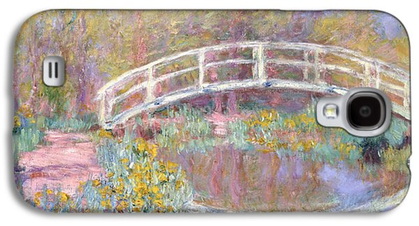 Pathways Paintings Galaxy S4 Cases - Bridge in Monets Garden Galaxy S4 Case by Claude Monet