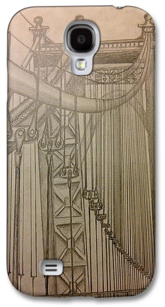 Suspension Drawings Galaxy S4 Cases - Bridge in New York Galaxy S4 Case by Irving Starr