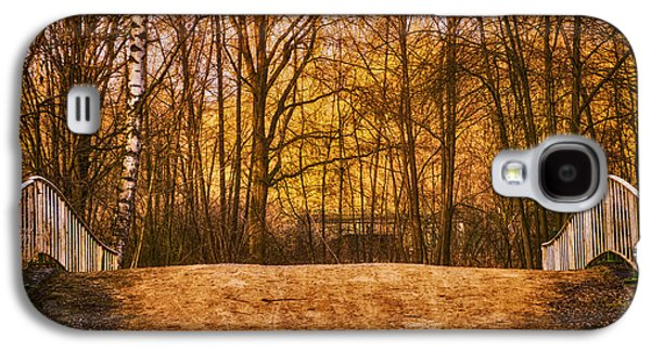 Interior Scene Photographs Galaxy S4 Cases - Bridge in Park Galaxy S4 Case by Wim Lanclus
