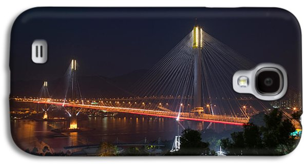 Island Stays Galaxy S4 Cases - Bridge Lit Up At Night, Ting Kau Galaxy S4 Case by Panoramic Images