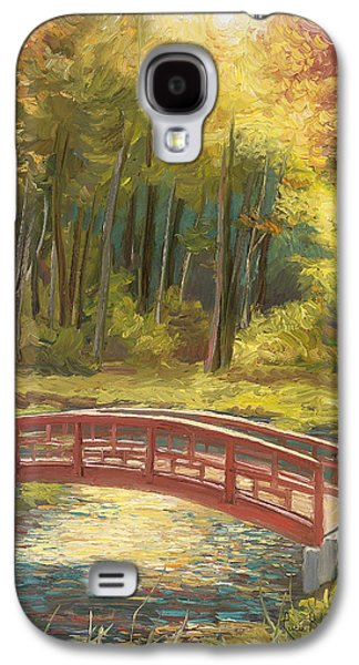 Autumn Landscape Galaxy S4 Cases - Bridge Galaxy S4 Case by Lucie Bilodeau