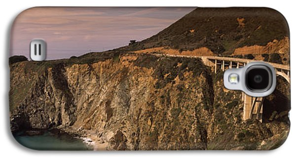 Bixby Bridge Galaxy S4 Cases - Bridge On A Hill, Bixby Bridge, Big Galaxy S4 Case by Panoramic Images