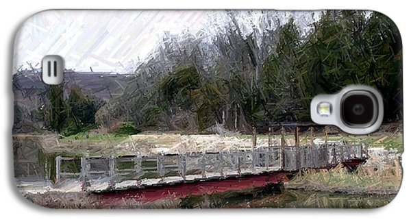 Architecture Tapestries - Textiles Galaxy S4 Cases - Bridge Over Cedar Pond-Bernheim Forest Galaxy S4 Case by Thia Stover