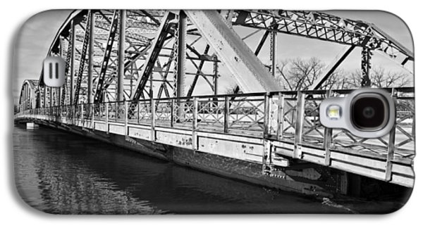 River Flooding Galaxy S4 Cases - Bridge over Flooding River Galaxy S4 Case by Donald  Erickson