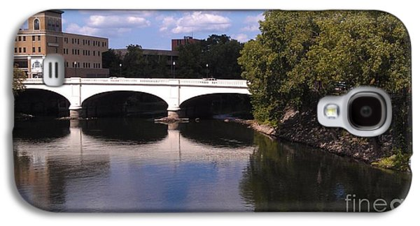 Indiana Scenes Galaxy S4 Cases - Bridge over the St. Joseph River  --  South Bend Galaxy S4 Case by Anna Lisa Yoder