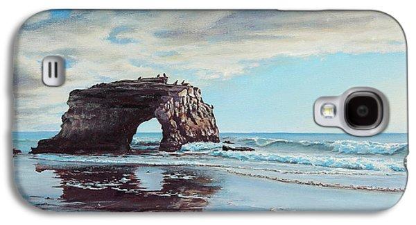 California Beach Art Galaxy S4 Cases - Bridge Rock Galaxy S4 Case by Joe Mandrick
