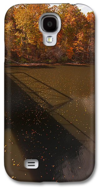 Autumn Leaf On Water Galaxy S4 Cases - Bridge Shadow in Autumn on The  Duck River Tennessee fine art prints as gift for the Holidays  Galaxy S4 Case by Jerry Cowart