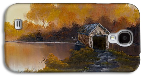 Recently Sold -  - Bob Ross Paintings Galaxy S4 Cases - Covered Bridge in Fall Galaxy S4 Case by C Steele