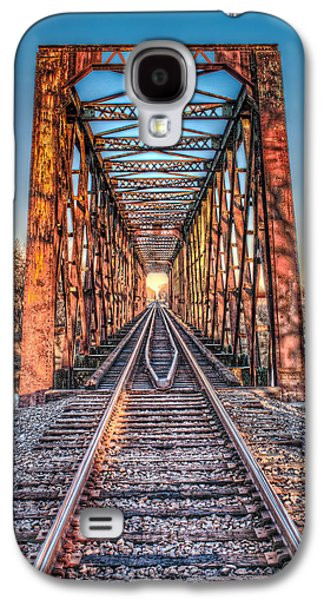 Transportation Pyrography Galaxy S4 Cases - Bridge to Nowhere Galaxy S4 Case by Corey Cassaw