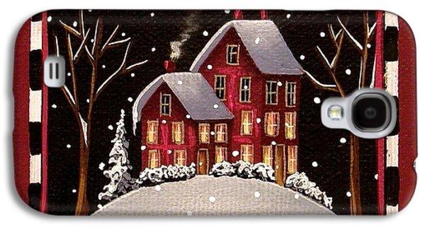 Snow Scene Galaxy S4 Cases - Bridgeton Lane Galaxy S4 Case by Catherine Holman