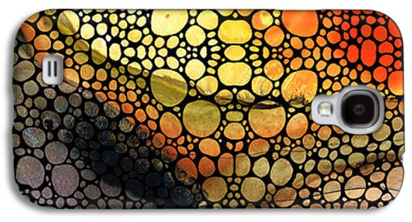Earth Tones Galaxy S4 Cases - Bridging The Gap - Stone Rockd Art Print Galaxy S4 Case by Sharon Cummings