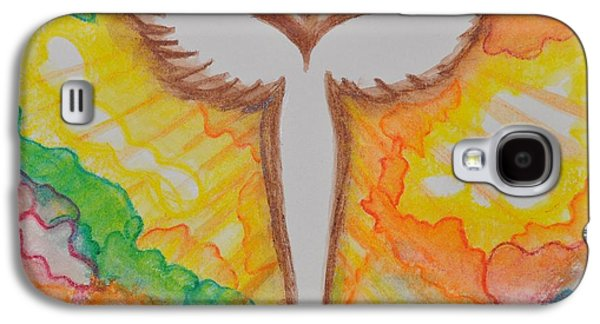 Spiritual Pastels Galaxy S4 Cases - Bright Angel Galaxy S4 Case by Sally Rice