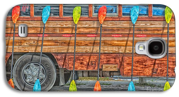 Paddle Galaxy S4 Cases - Bright Colored Paddles and Vintage Woodie Surf Bus - Florida - HDR Style Galaxy S4 Case by Ian Monk