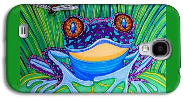 Bright Eyed Frog Galaxy S4 Case by Nick Gustafson