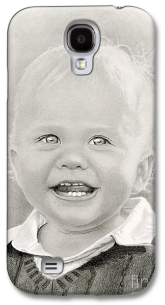 Joyful Drawings Galaxy S4 Cases - Bright Eyes Galaxy S4 Case by Sarah Batalka