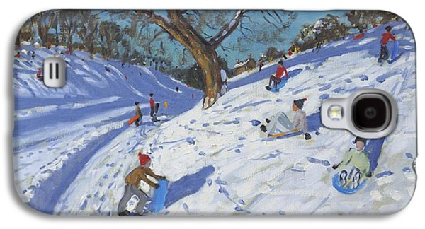 Winter Fun Paintings Galaxy S4 Cases - Bright morning   Chatsworth Galaxy S4 Case by Andrew Macara