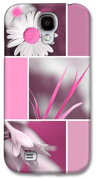 Bright Pink Flowers Collage Galaxy S4 Case by Christina Rollo