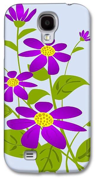Digital Galaxy S4 Cases - Bright Purple Galaxy S4 Case by Anastasiya Malakhova