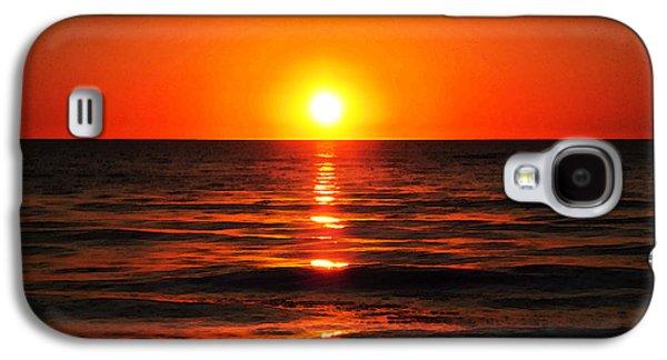 Animal Lover Digital Art Galaxy S4 Cases - Bright Skies - Sunset Art Galaxy S4 Case by Sharon Cummings