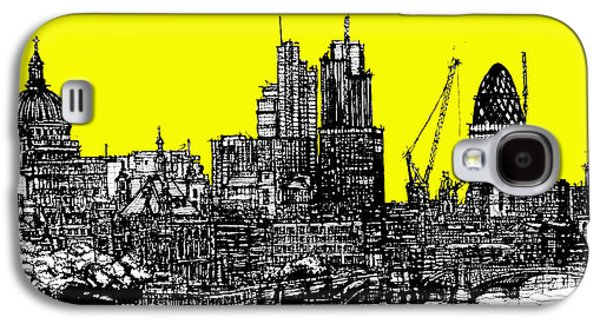 Architecture Framed Prints Galaxy S4 Cases - Bright yellow London skies Galaxy S4 Case by Lee-Ann Adendorff