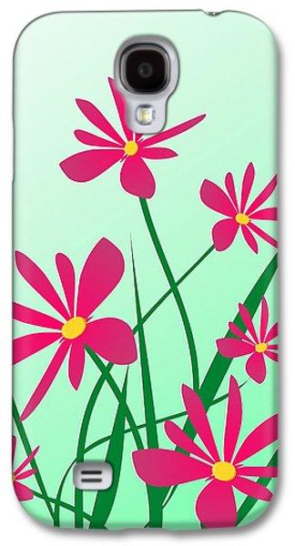 Graphic Mixed Media Galaxy S4 Cases - Brighten your Day Galaxy S4 Case by Anastasiya Malakhova