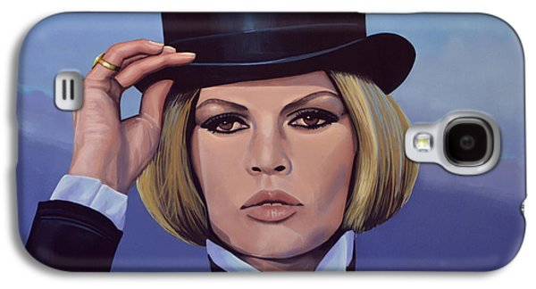 Symbol Paintings Galaxy S4 Cases - Brigitte Bardot Blue Galaxy S4 Case by Paul  Meijering
