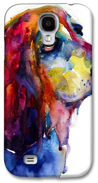 Cute Puppy Galaxy S4 Cases - Brilliant Basset Hound watercolor painting Galaxy S4 Case by Svetlana Novikova