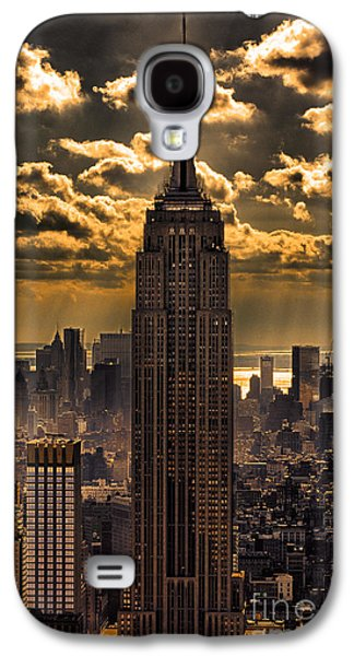 Best Sellers -  - Landmarks Photographs Galaxy S4 Cases - Brilliant But Hazy Manhattan Day Galaxy S4 Case by John Farnan