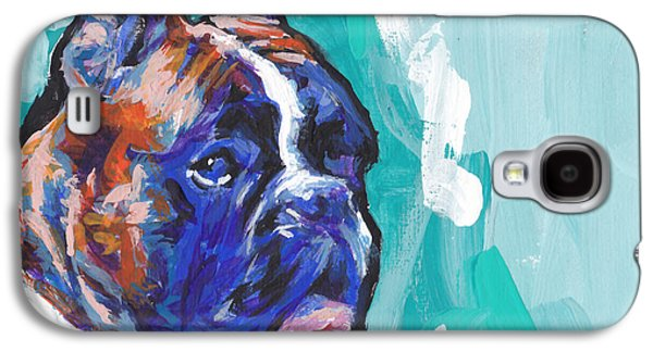 Boxer Galaxy S4 Cases - Brindle Boxer Baby Galaxy S4 Case by Lea