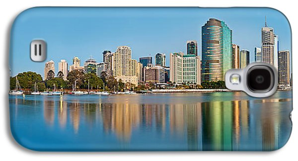 Business Galaxy S4 Cases - Brisbane City Reflections Galaxy S4 Case by Az Jackson