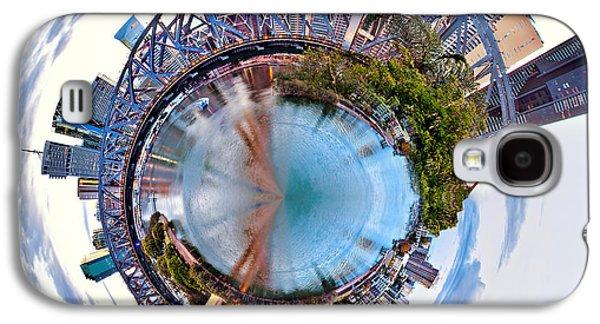 Symmetrical Galaxy S4 Cases - Brisbane Skyline Circagraph Galaxy S4 Case by Az Jackson