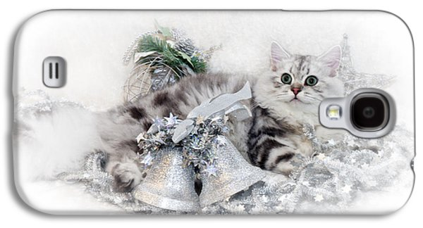 Breed Digital Art Galaxy S4 Cases - British Longhair Cat CHRISTMAS TIME Galaxy S4 Case by Melanie Viola
