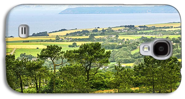Rural Scenes Photographs Galaxy S4 Cases - Brittany landscape with ocean view Galaxy S4 Case by Elena Elisseeva